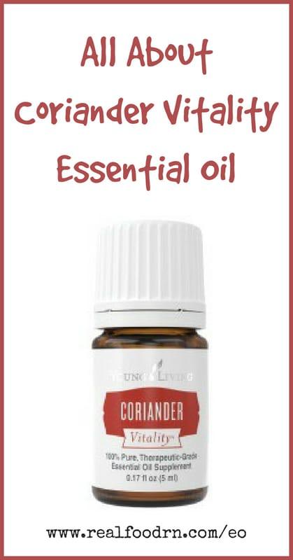 Coriander Vitality Essential Oil | Real Food RN