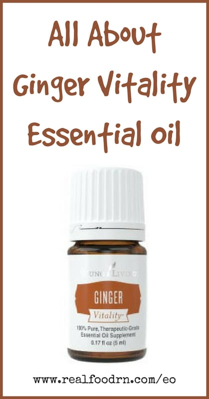 Ginger Vitality Essential Oil | Real Food RN