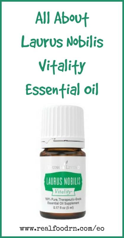 Laurus Nobilis Vitality Essential Oil | Real Food RN