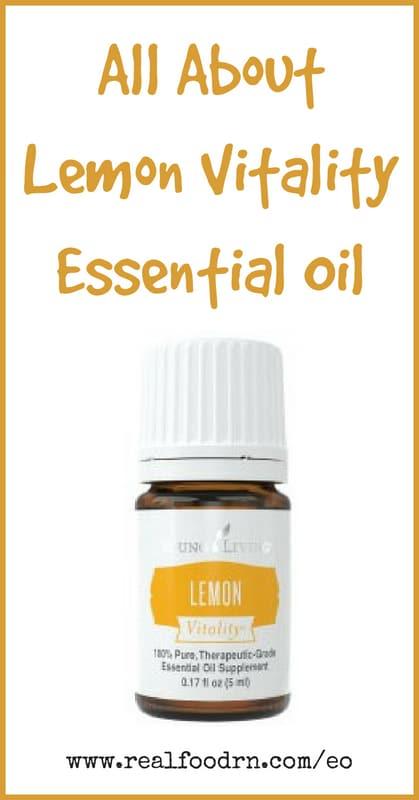 Lemon Vitality Essential Oil | Real Food RN