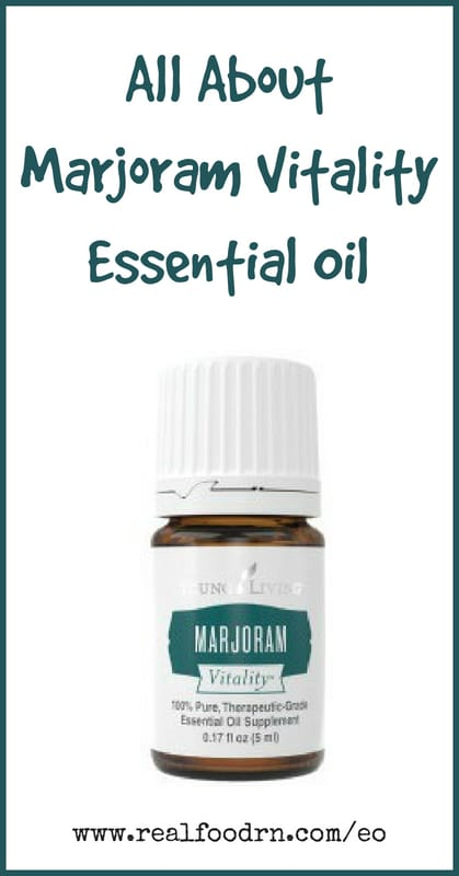 Marjoram Vitality Essential Oil | Real Food RN