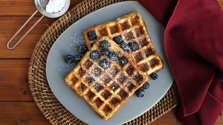 Keto Waffles with Blueberries | Real Food RN