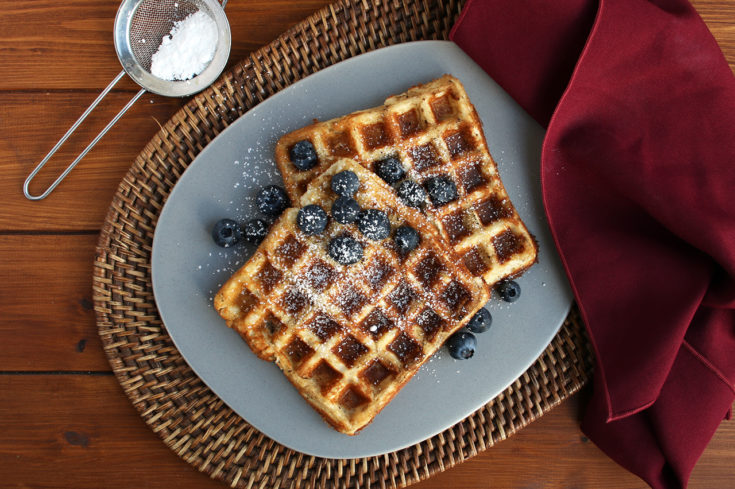 Keto Waffles with Blueberries