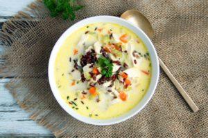 Gluten-Free Creamy Chicken & Wild Rice Soup   Real Food RN