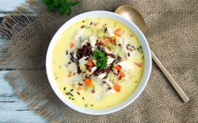 Gluten-Free Creamy Chicken & Wild Rice Soup