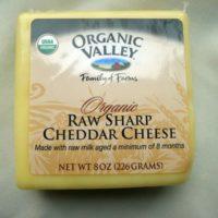 Raw Sharp Cheddar Cheese