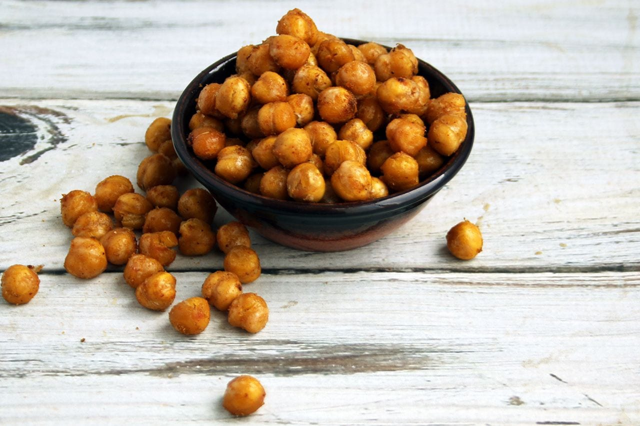 Spicy Citrus Roasted Chickpeas