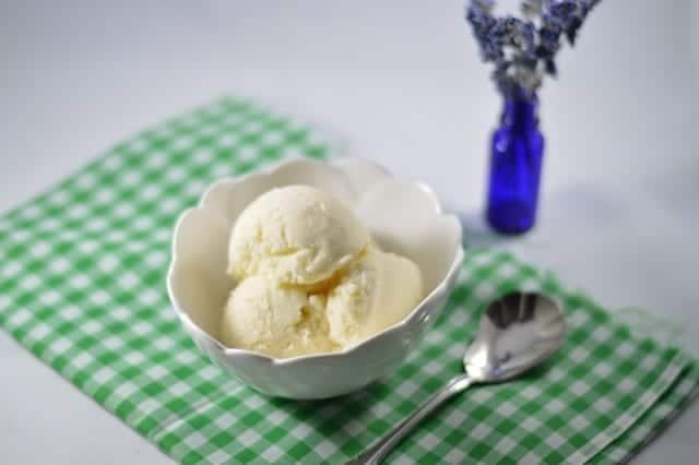 Easy Homemade Vanilla Lavender Ice Cream   Real Food RN