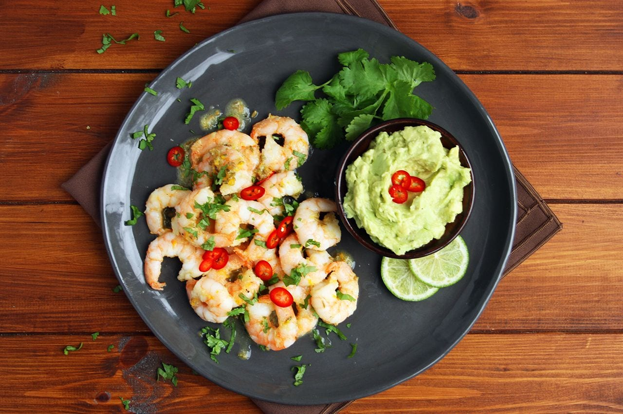 Citrus Shrimp with Guacamole