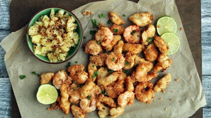 Gluten-Free Coconut Shrimp & Chicken