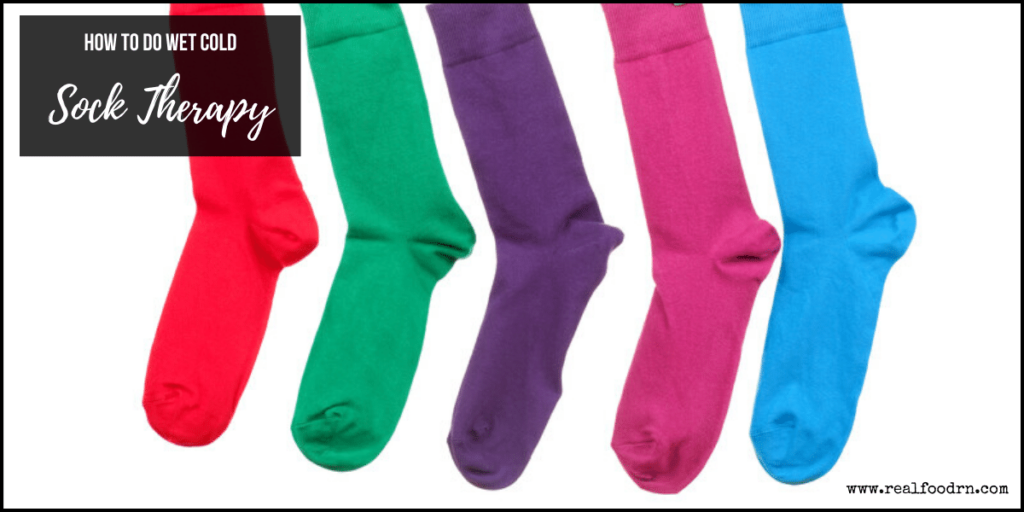 How to Do Wet Cold Sock Therapy | Real Food RN