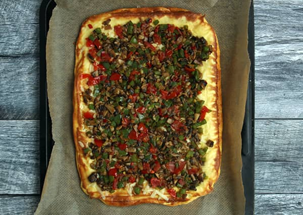 Easy Vegetable Omelette Roll | Real Food RN