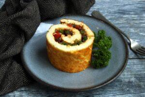 Easy Vegetable Omelette Roll   Real Food RN