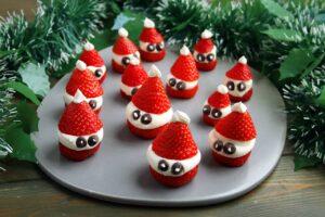 Strawberry Santa Hats   Real Food RN