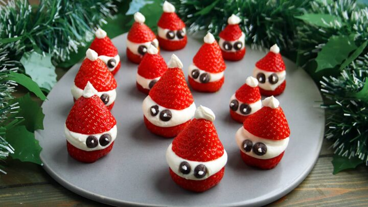 Strawberry Santa Hats | Real Food RN