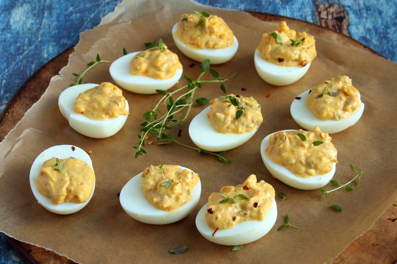 Keto Fiery Deviled Eggs | Real Food RN
