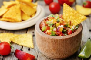 Garden Fresh Peach & Tomato Salsa | Real Food RN