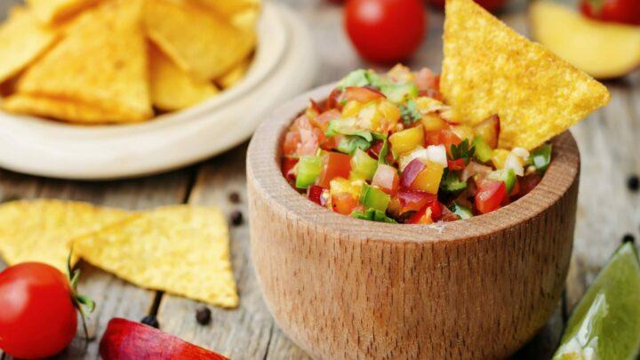 Garden Fresh Peach & Tomato Salsa | Real Food RN