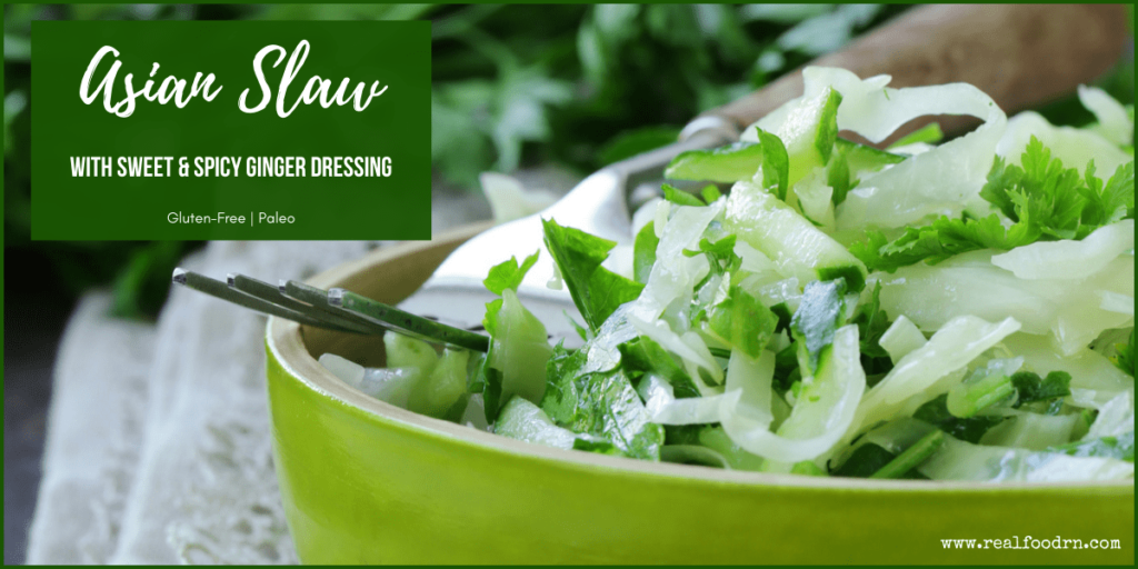 Asian Slaw with Sweet & Spicy Ginger Dressing | Real Food RN