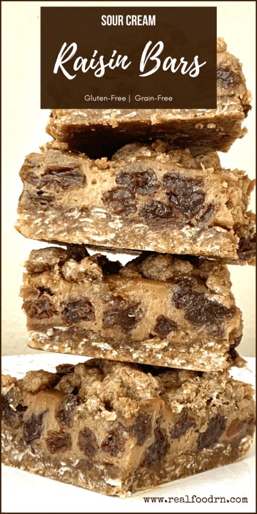 Lactogenic Grain-Free Sour Cream Raisin Bars | Real Food RN