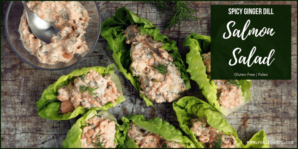 Spicy Ginger Dill Salmon Salad | Real Food RN