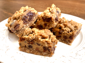 Lactogenic Grain-Free Sour Cream Raisin Bars | Real Food RN
