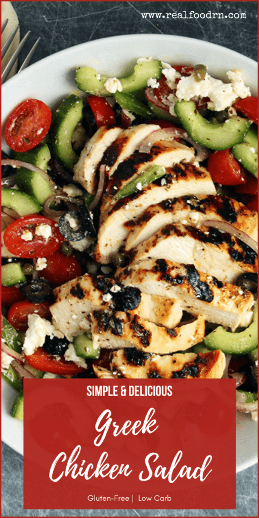 Simple & Delicious Greek Chicken Salad | Real Food RN