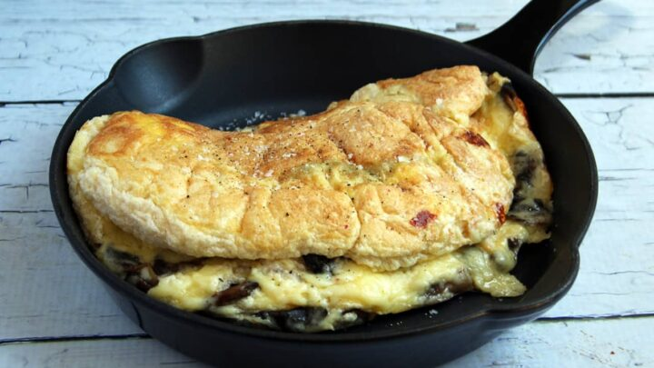 Low Carb Fluffy Mushroom Omelette | Real Food RN