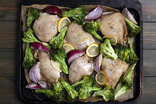 Easy Low Carb Lemon Chicken & Broccoli Tray Bake | Real Food RN