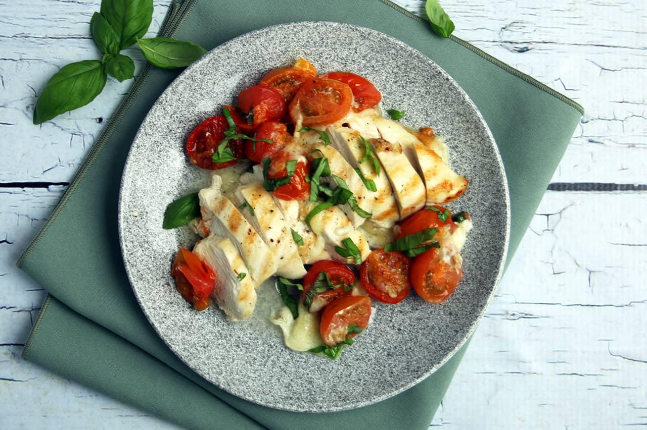 Keto Sheet Pan Bake Creamy Tomato Basil Chicken | Real Food RN