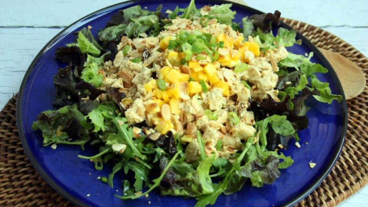 Easy Dairy-Free Curry Chicken Salad (Whole Foods Copycat) | Real Food RN