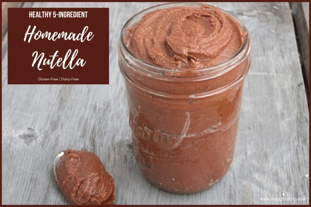 Healthy 5-Ingredient Homemade Nutella | Real Food RN